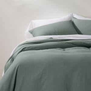 2 Casaluna Linen Blend Queen Pillow Sham Set